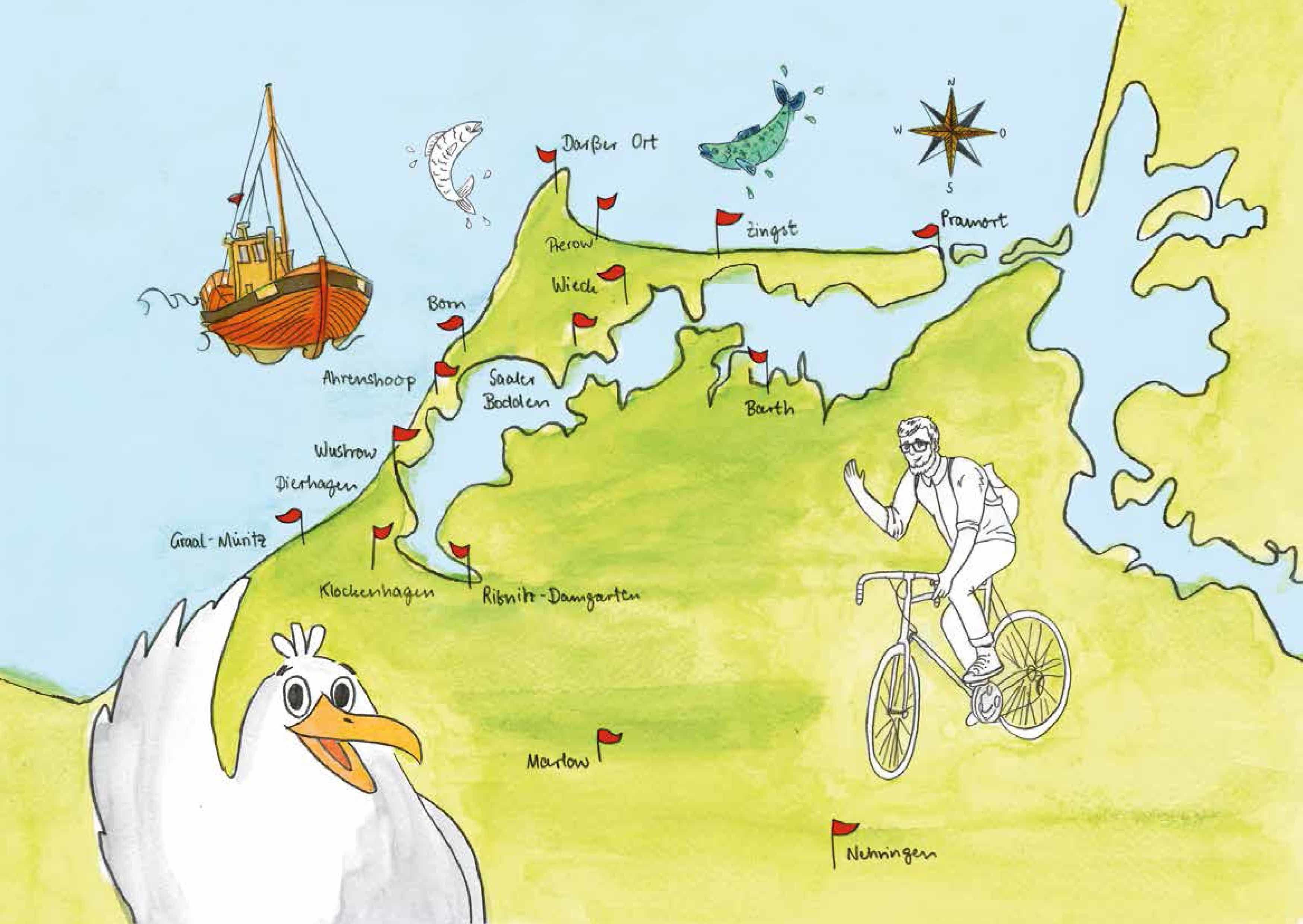 Fischland Darß Zingst Karte.Interaktive Entdeckungstouren Fischland Darß Zingst