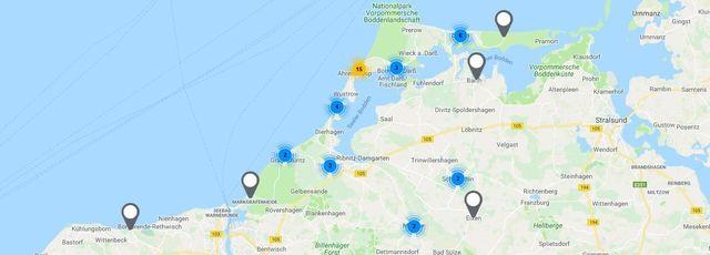 Karte Norddeutschland Ostseekuste.Ostseeurlaub Fischland Darss Zingst