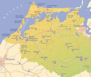 Fischland Darß Zingst Karte.übernachtungen Fischland Darß Zingst